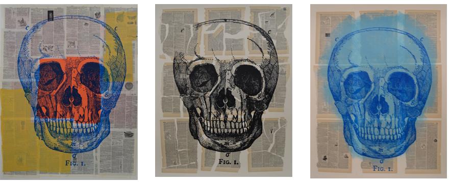 Paper Skulls from Tunney's Skull Session